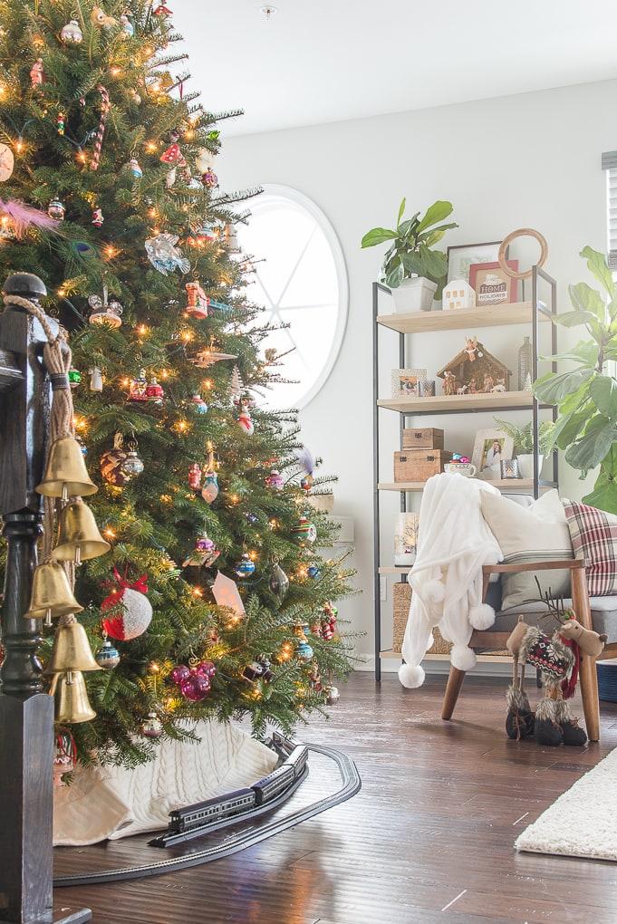 Christmas living room tour modern classic home