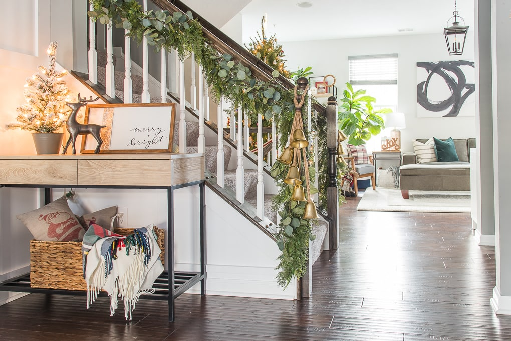 Modern classic Christmas home tour townhome open concept home