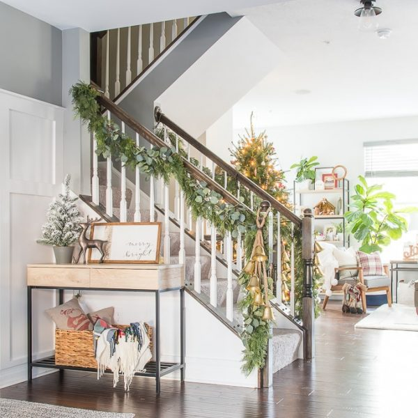 Our Modern Classic Christmas Home Tour Townhome overview open floor plan