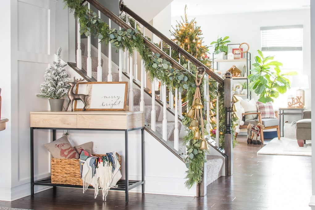 Modern Classic Christmas home tour open concept townhome with festive decorations
