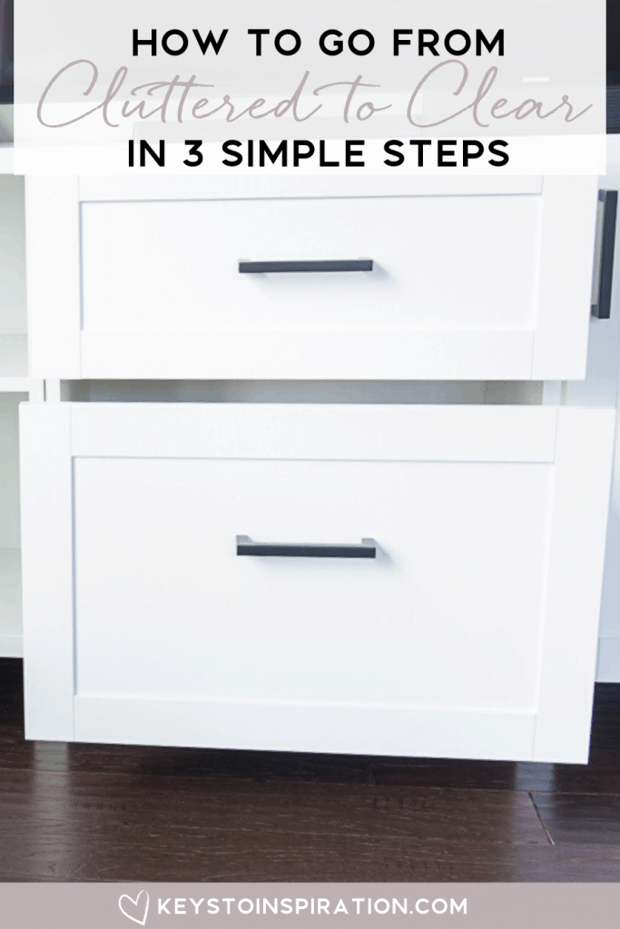 How to go from cluttered to clear in 3 simple steps white drawers open organized