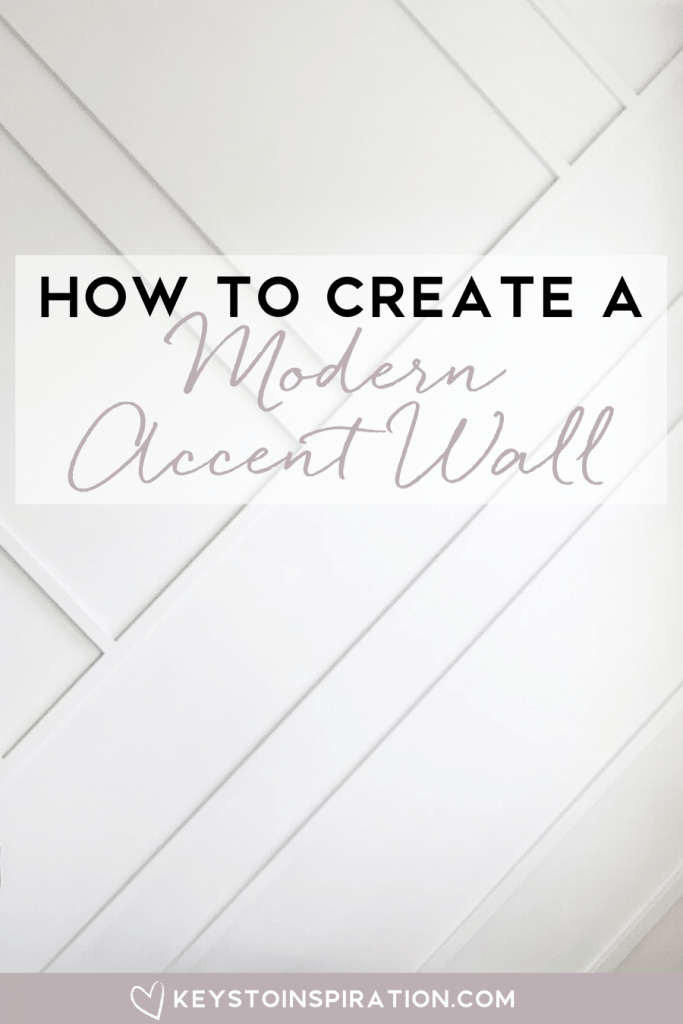 how to create a modern accent wall