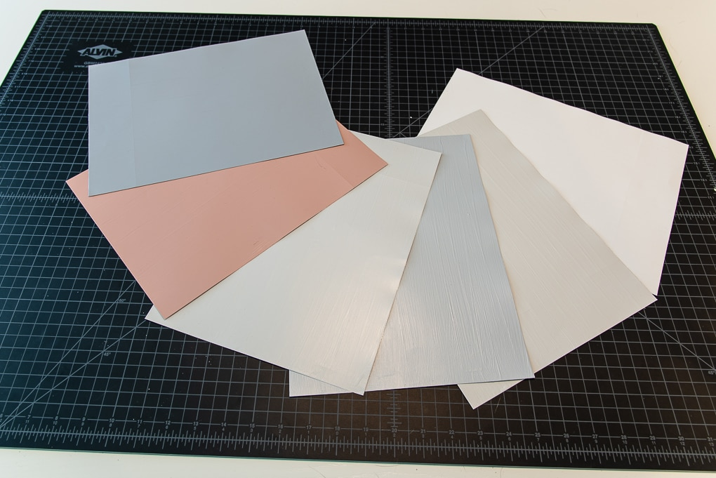 multiple colors of paint sample sheets sure swatch