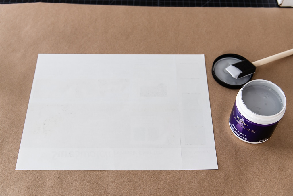 paint sample sheet blank sure swatch ready to be painted