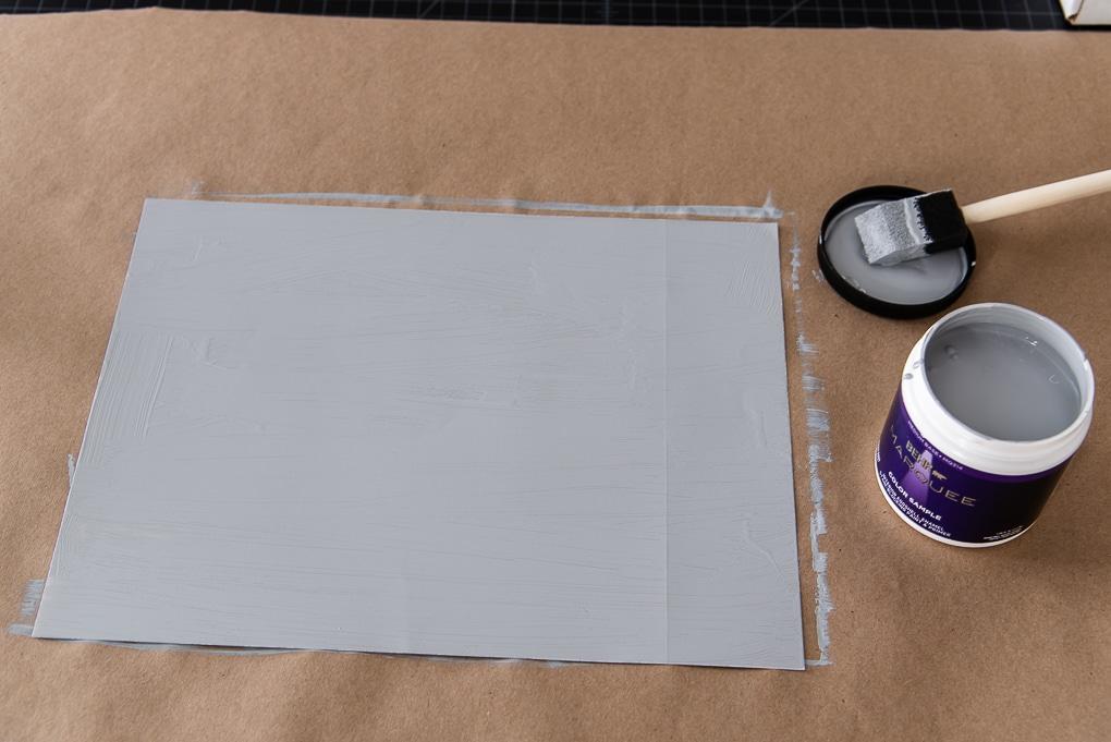 painted sure swatch sheet paint sampling