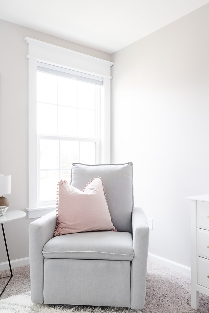 paxton glider from west elm in neutral nursery