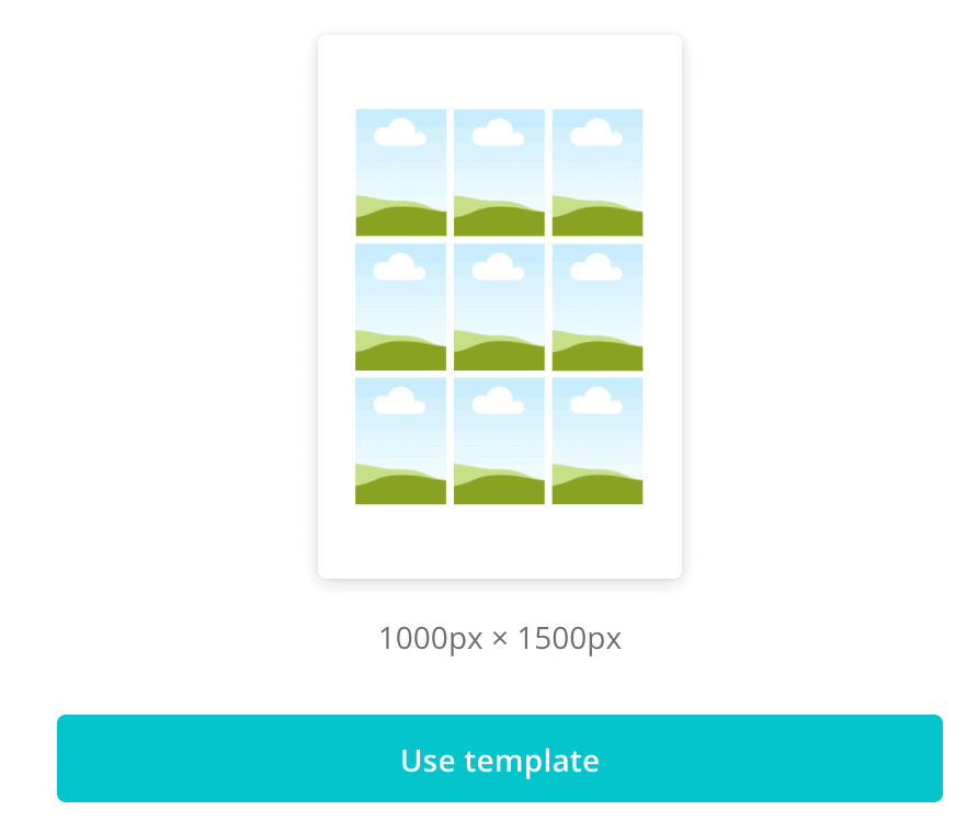template for simple modern gallery wall in canva design software