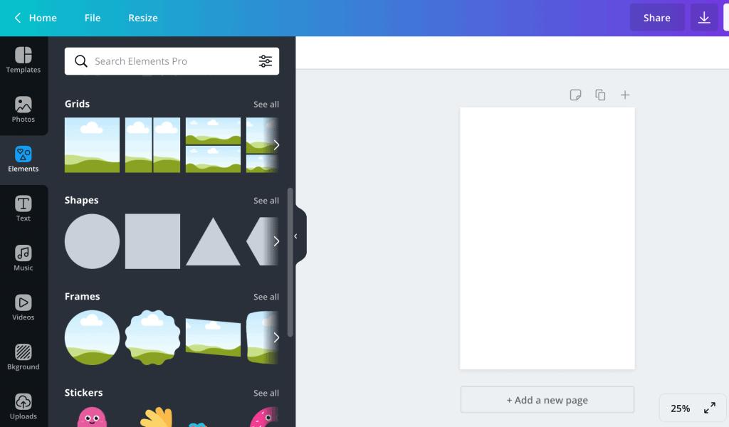 canva design software new blank design