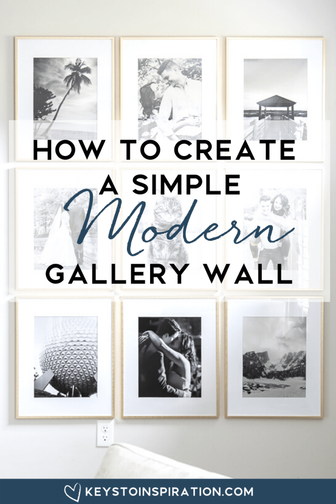 how to create a simple modern gallery wall