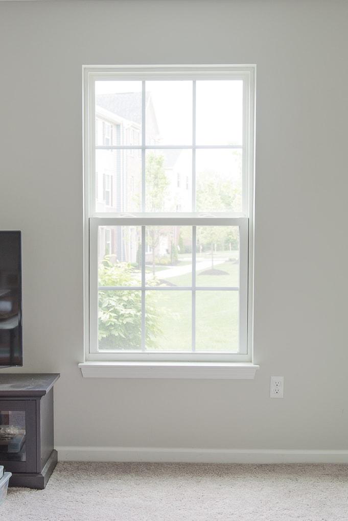 blank empty window without any window treatments