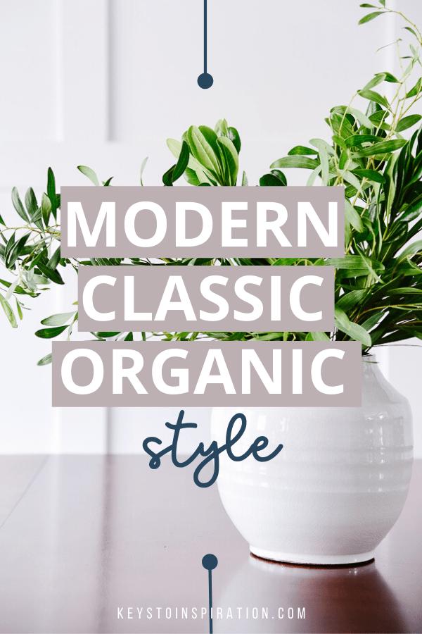 modern classic organic style greenery in white ceramic vase