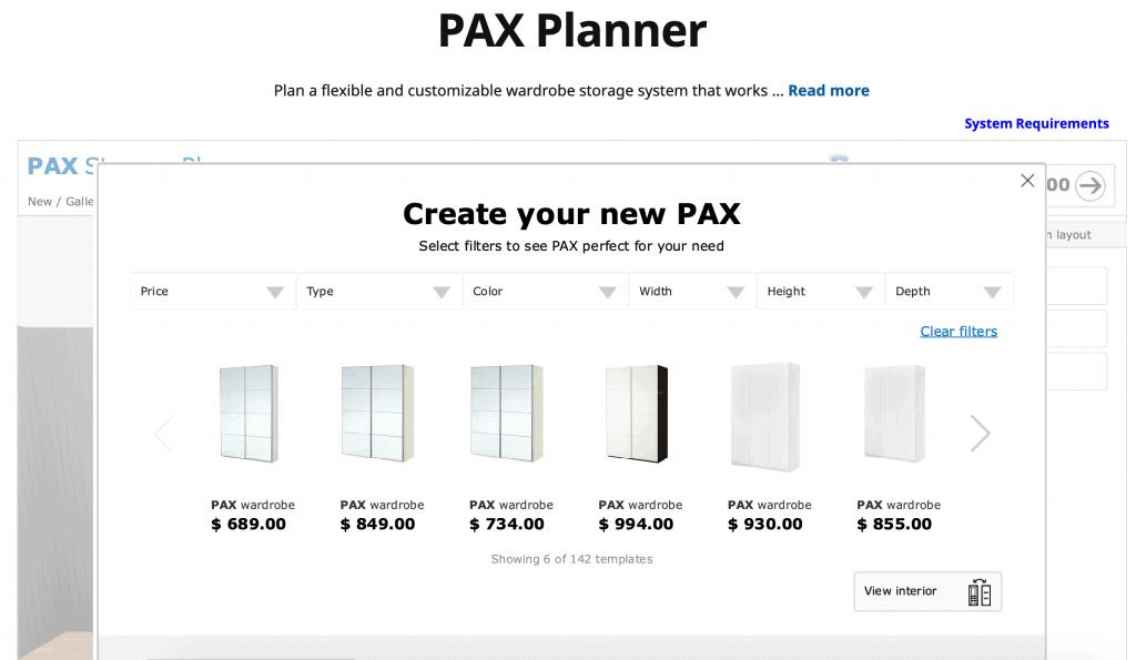 IKEA PAX Online Planner