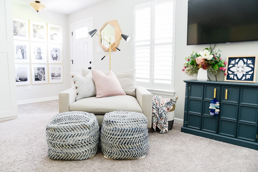 harmony accent chair from west elm in home office