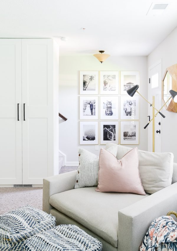 Comfortable and Organized Creative Home Office Reveal