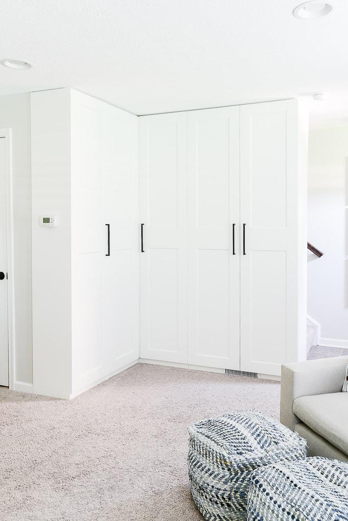 corner cabinets IKEA PAX white modern