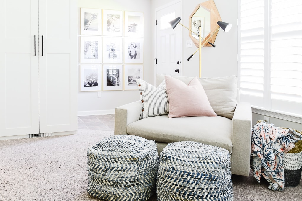 west elm accent chair and a half harmony chair in office