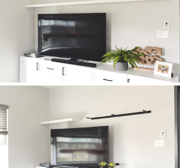 how to build floating shelves collage
