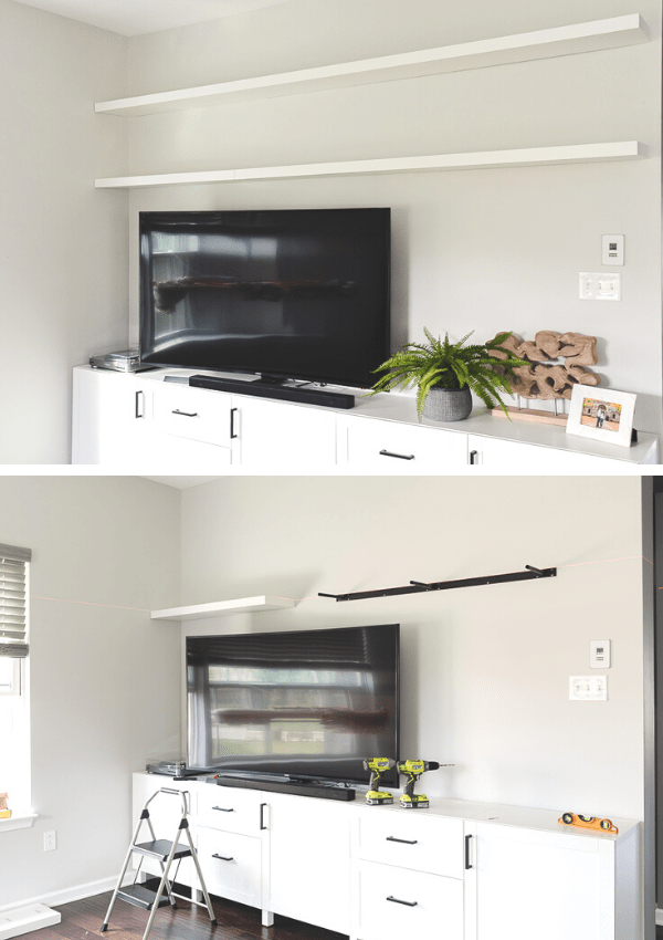 How to Build Beautiful Floating Shelves using the IKEA LACK Series