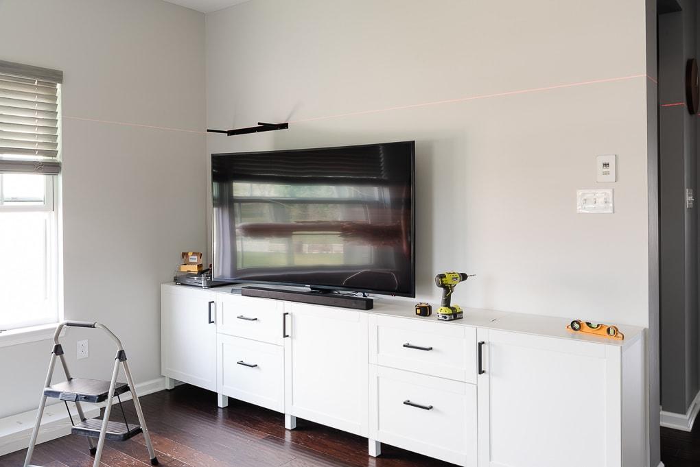installing IKEA LACK shelf metal bracket small