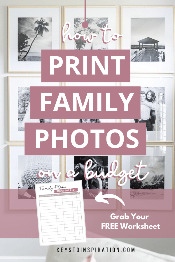 how to print family photos on a budget