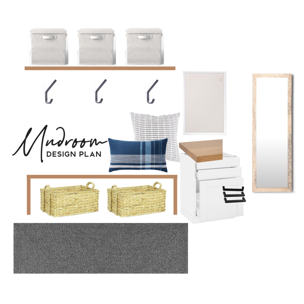 mudroom design plan mood board modern home