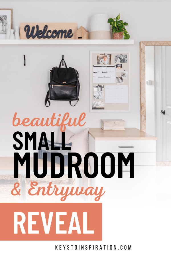 beautiful small mudroom and entryway reveal