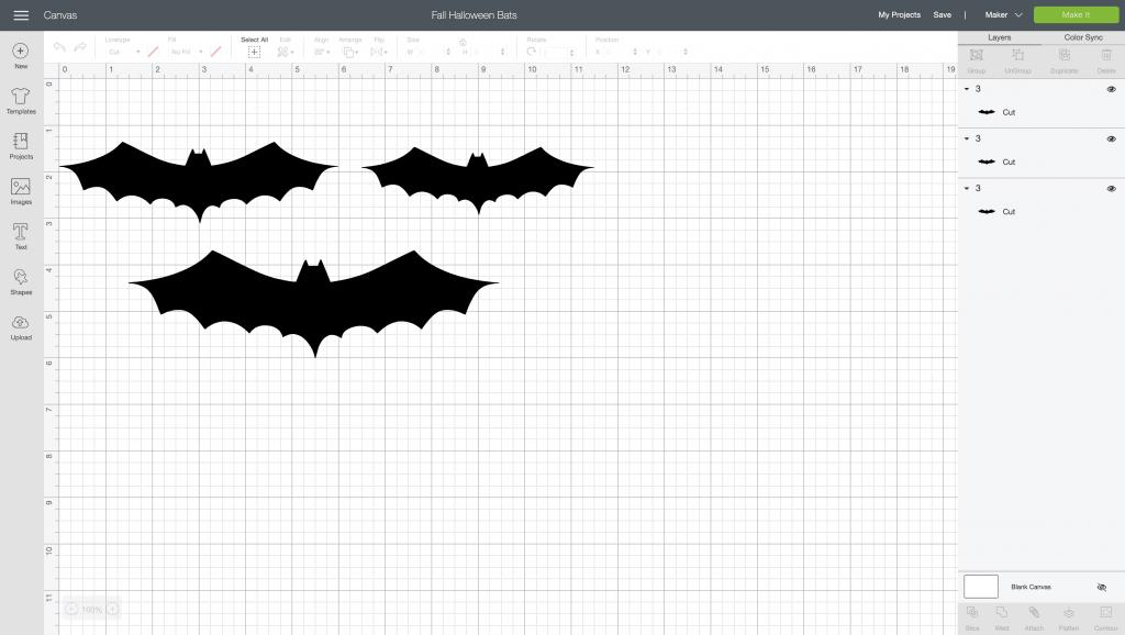 halloween bats cricut design space