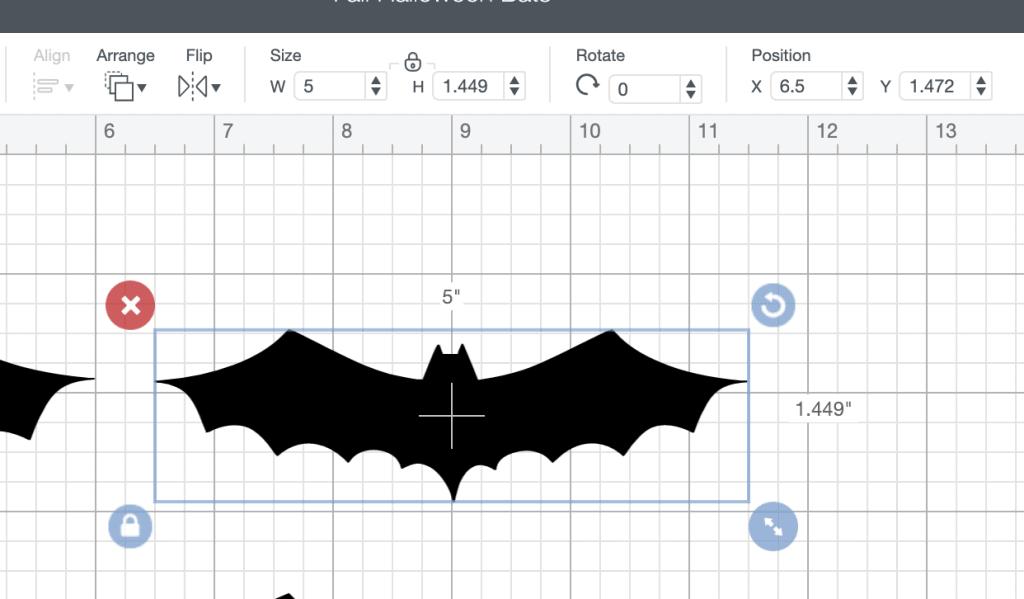 halloween bats cricut design space small