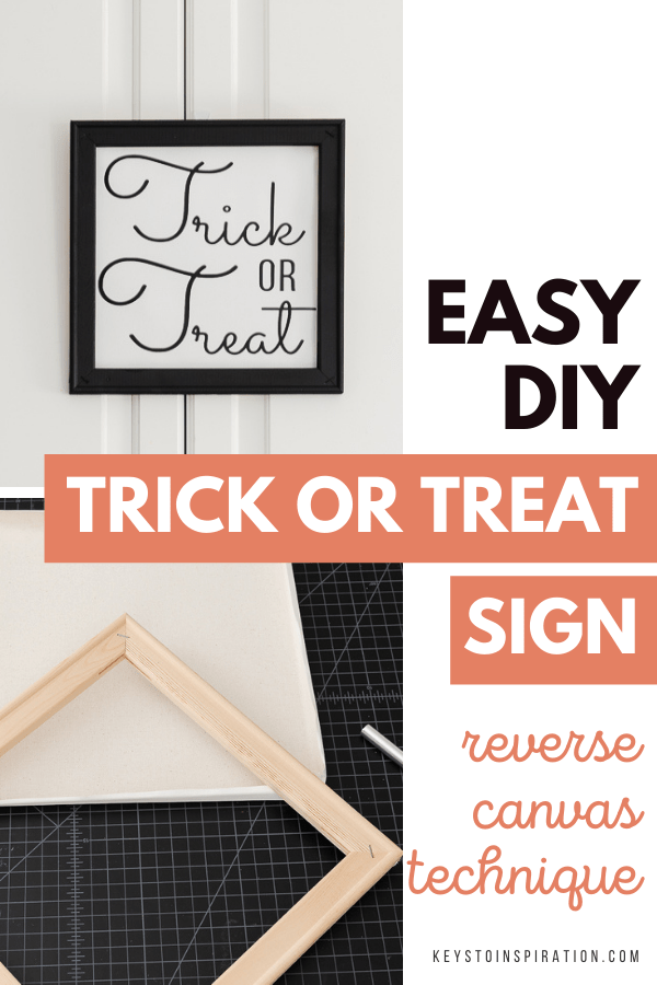 easy diy trick or treat sign