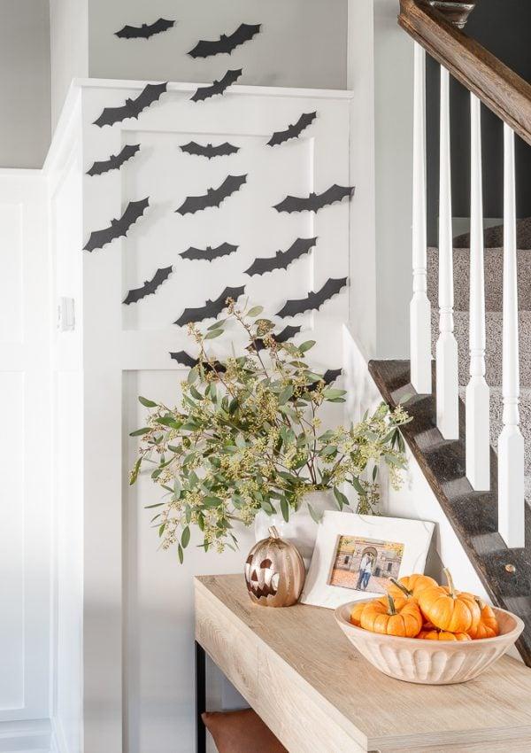 Easy DIY Halloween Bat Decor