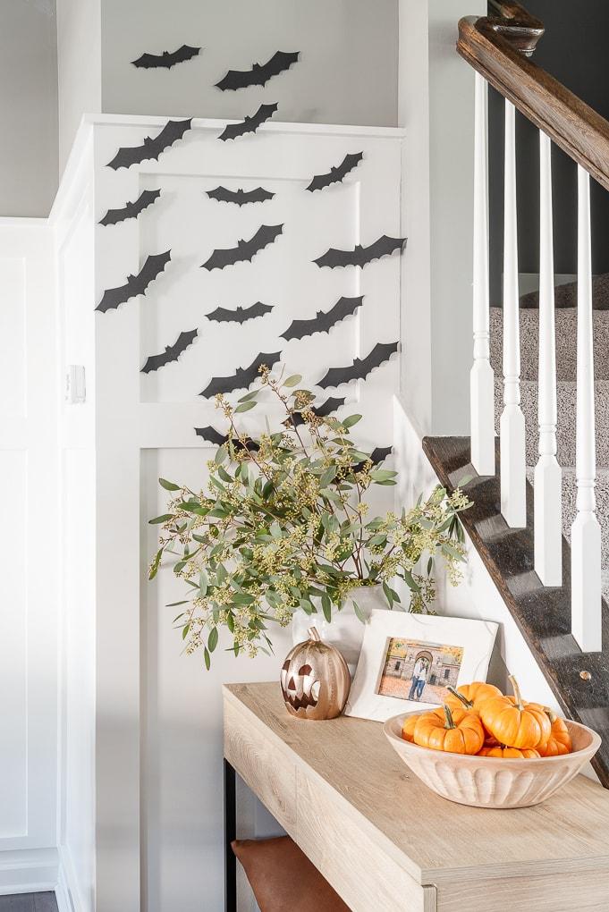 halloween black paper bats display decor