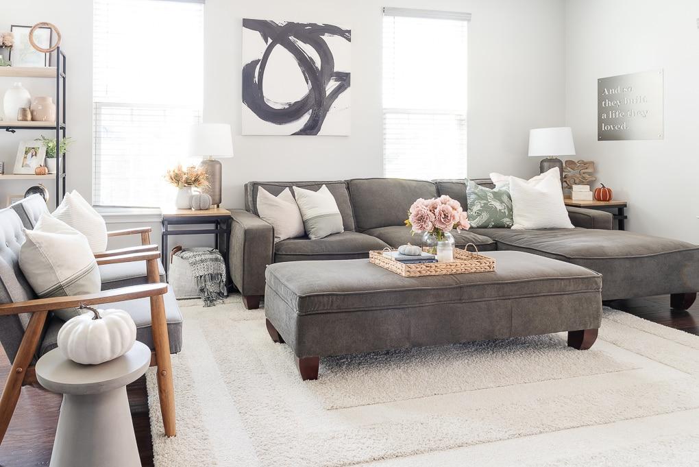 fall living room decor home tour