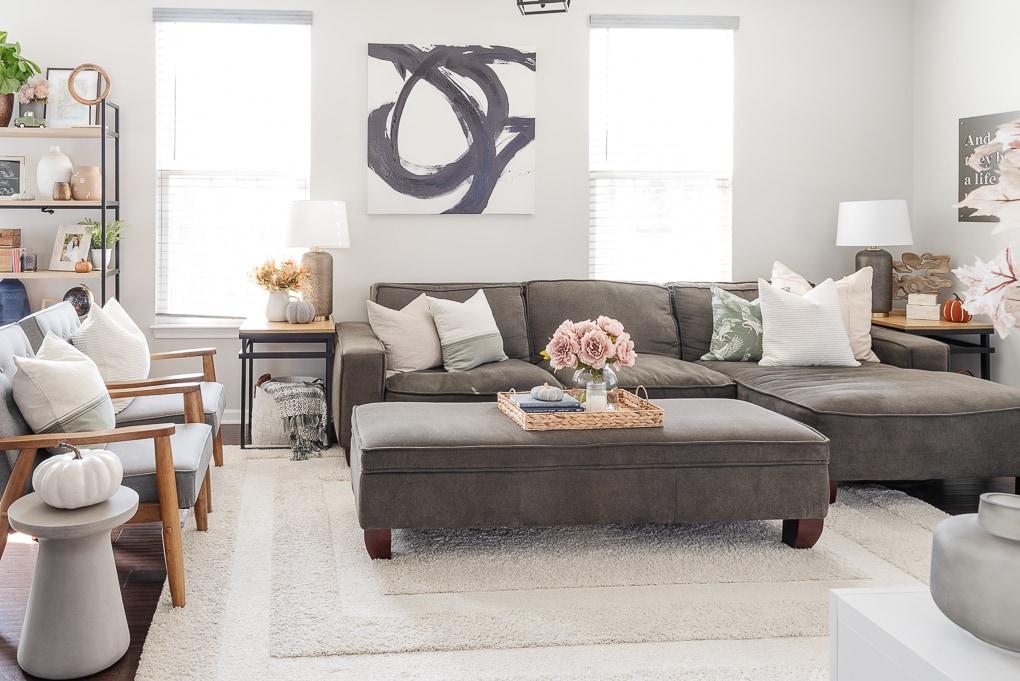 fall modern living room