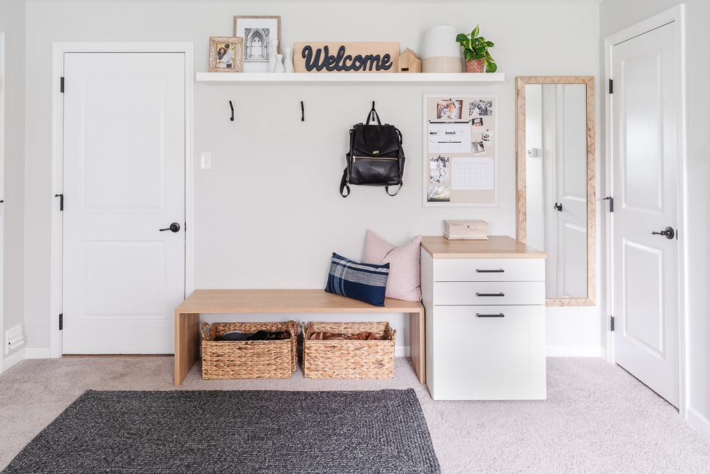 small entryway and mudroom room reveal