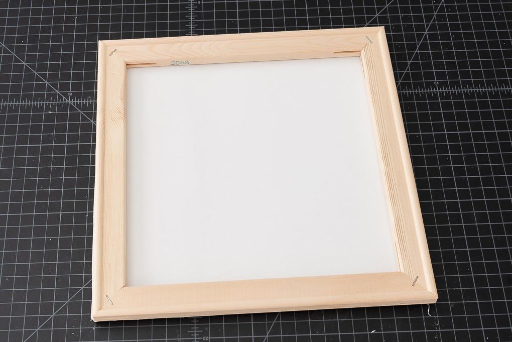 white canvas reverse canvas technique