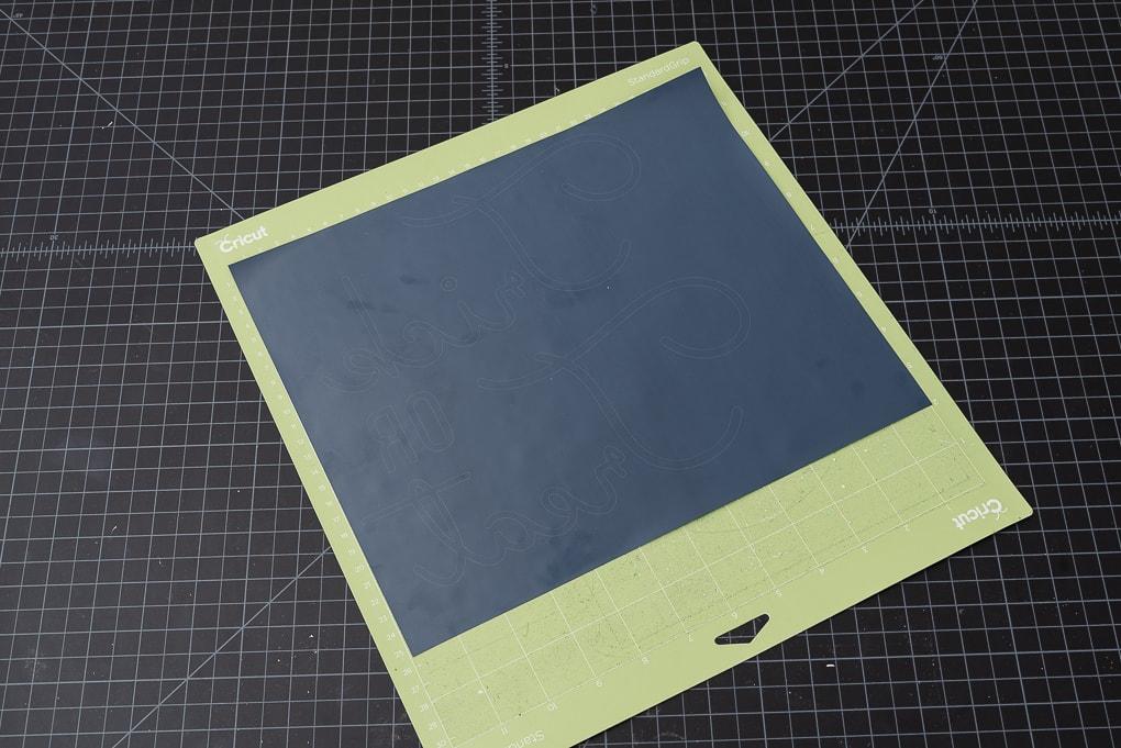iron on vinyl on cricut standard cutting mat