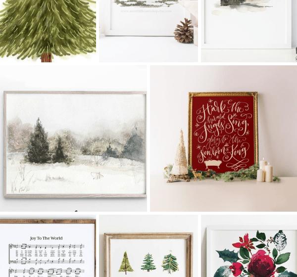 beautiful Christmas printable art