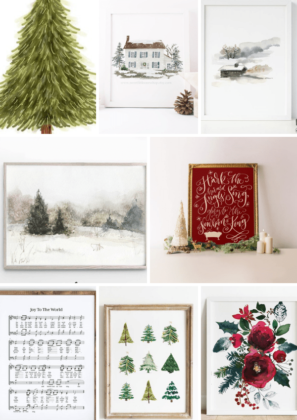 25 Insanely Pretty Free Christmas Printables You Need For Your Home