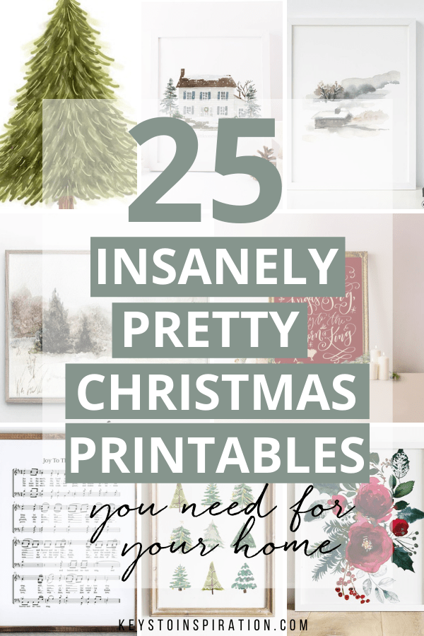 25 insanely pretty Christmas printables you need for your home