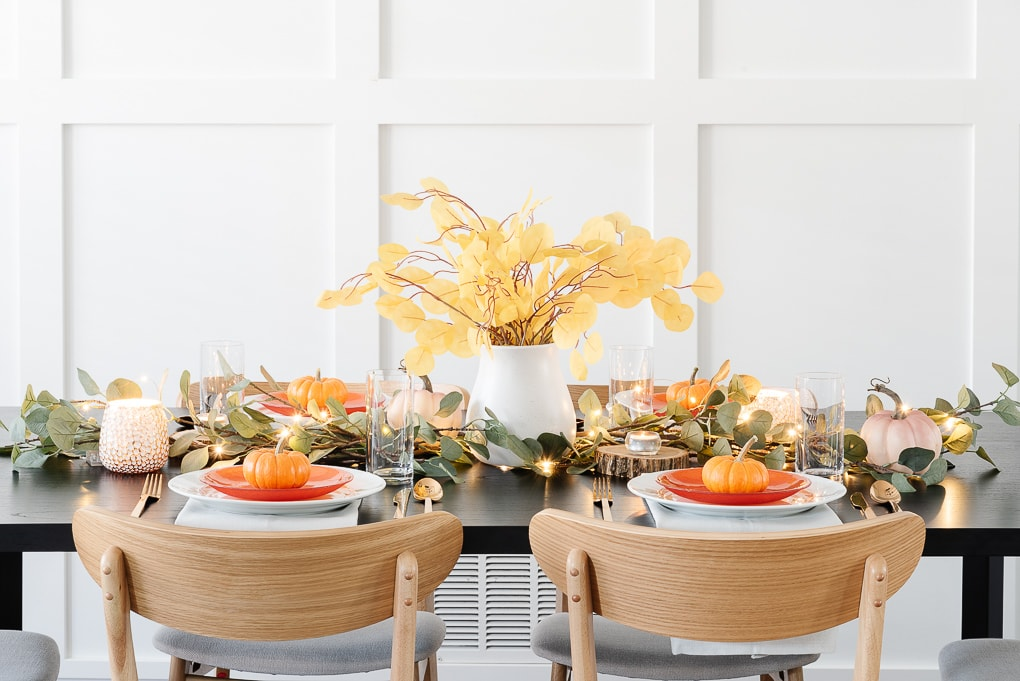 table view modern thanksgiving table decor