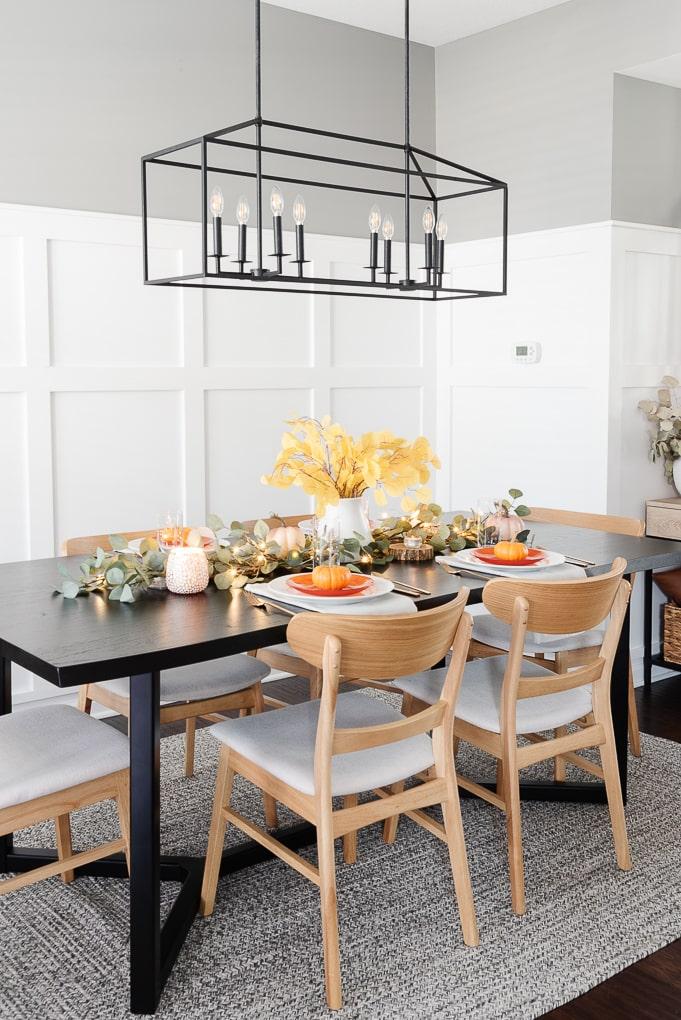 modern easy thanksgiving table decor