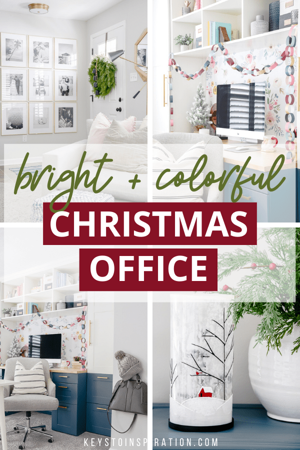 bright and colorful Christmas office