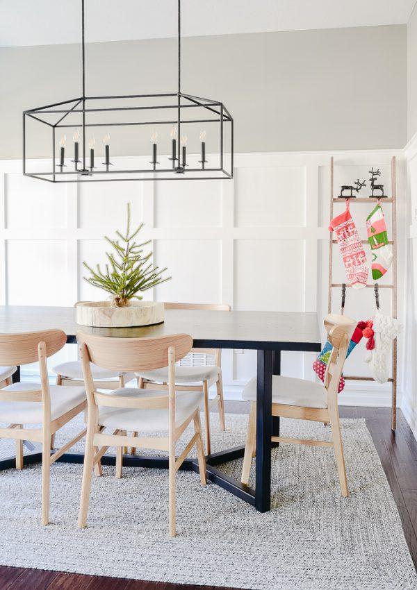 Festive Modern Christmas Dining Room