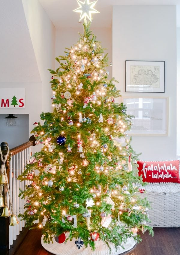 Modern Classic Christmas Living Room