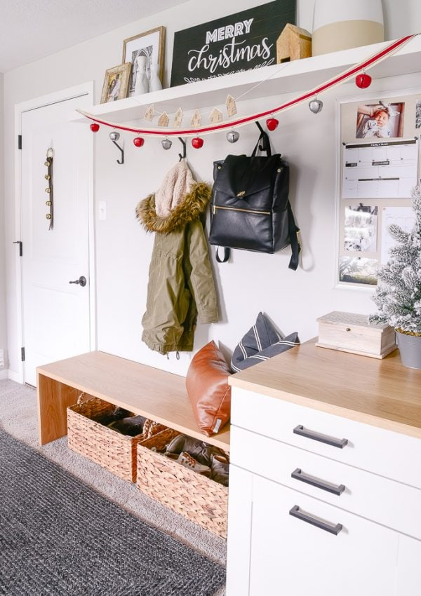 Festive Christmas Mudroom