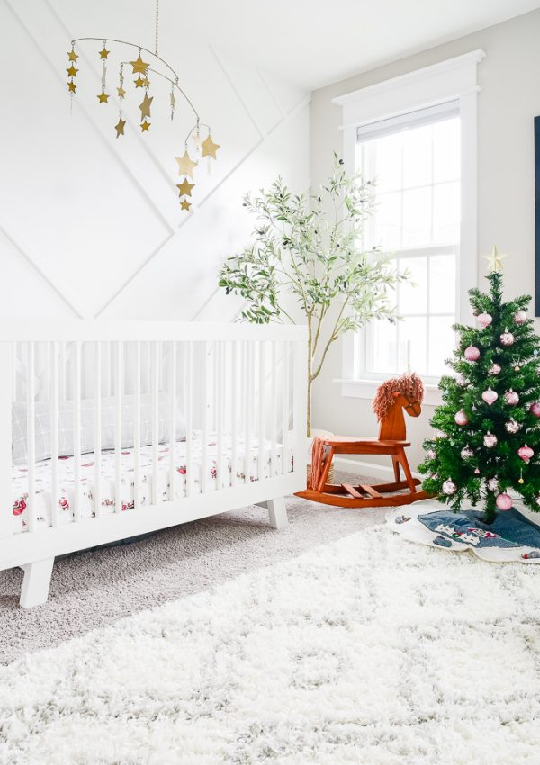 Joyful and Bright Christmas Nursery