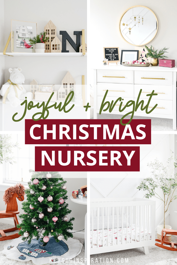 joyful and bright Christmas nursery