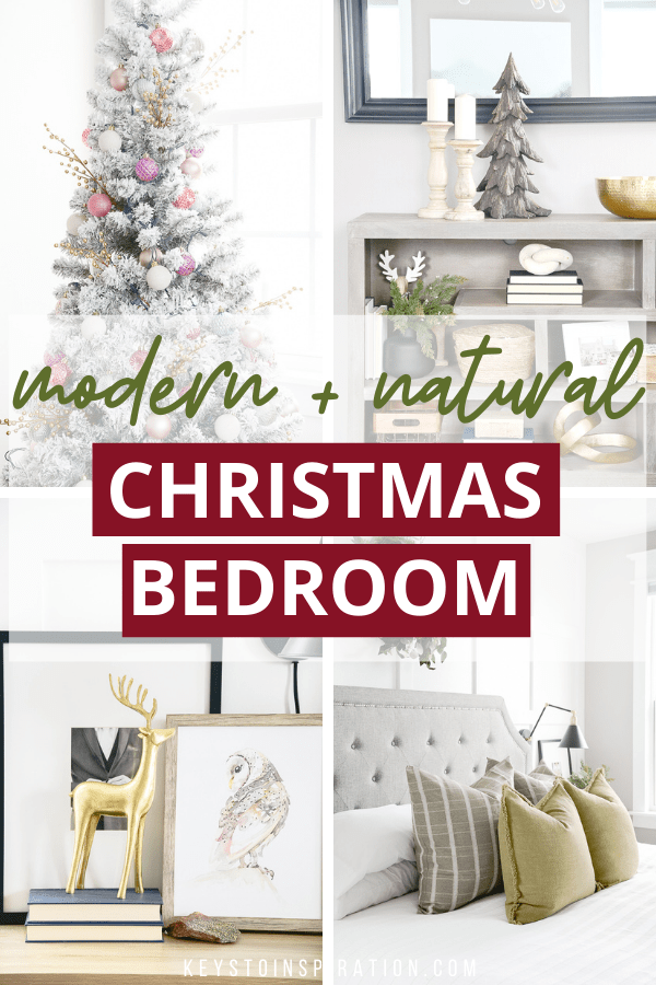modern and natural christmas bedroom