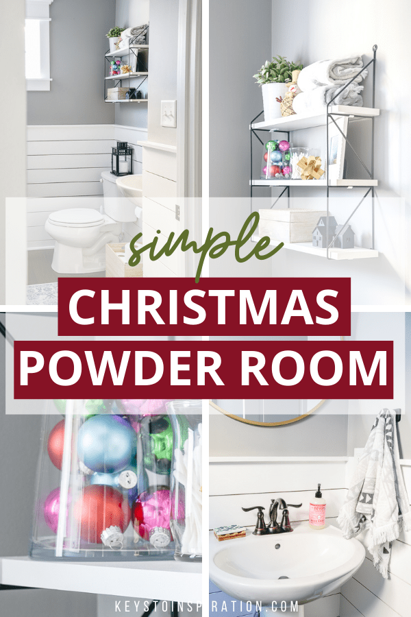 simple christmas powder room