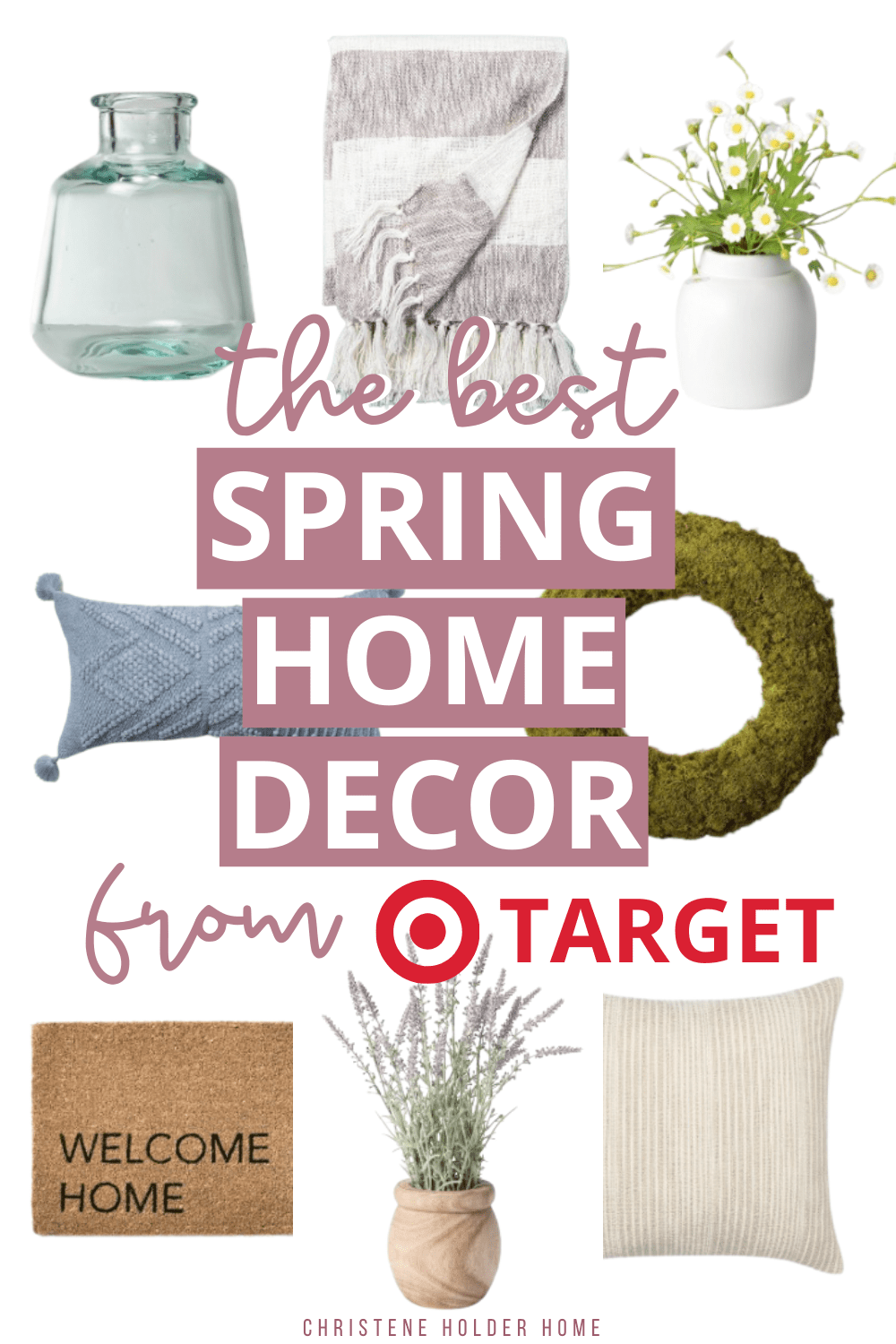 spring home decor pieces from Target